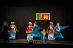 Musici en dansers in Sri Lanka Stock Foto's