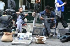 Musici in het Franse Kwart Stock Fotografie