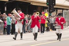 Musici op parade Stock Foto