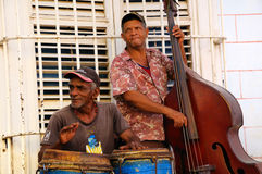 Musici in Trinidad, Cuba. Royalty-vrije Stock Foto's