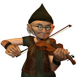 The musician. 3d  rendering of an old man plays  the violin as an illustration Stock Images