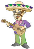 Musician. Mexican musician; vector illustration; isolated Royalty Free Stock Images