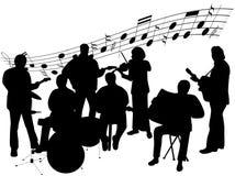 Musician. Illustration of musician, men, women Royalty Free Stock Photography