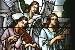 Musician angels Royalty Free Stock Photos