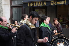 Musician band during Carnival of Limoux Stock Photo