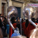 Musician band during Carnival of Limoux Stock Images