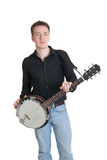 Musician with a banjo Royalty Free Stock Photo