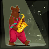 Musician Bear. Stock Photos