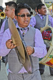 Musician in Bolivian Independence Day parade in Brazil Royalty Free Stock Images