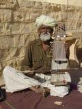 Musician at the Camel fair, Jaisalmer, India Royalty Free Stock Photo