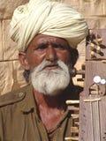 Musician at the Camel fair, Jaisalmer, India Royalty Free Stock Photography
