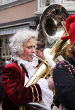 Musician in carnival parade Royalty Free Stock Photography