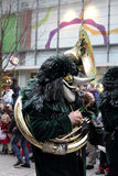 Musician in carnival street parade Royalty Free Stock Photo