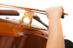 Musician with cello Royalty Free Stock Photos