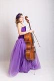 Musician with cello Royalty Free Stock Photos