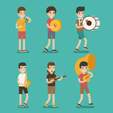 Musician character Royalty Free Stock Image