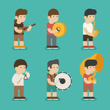 Musician character Stock Photos
