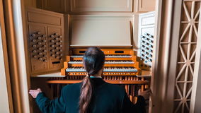 Musician Closes The Organ stock video footage