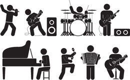 Musician. And concert icon set Stock Image