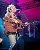 Musician Damien Rice plays at the festival. Irish singer-songwriter, musician Damien Rice plays at the festival, summer 2012 Royalty Free Stock Photography