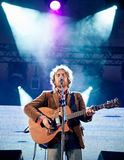 Musician Damien Rice plays at the festival Royalty Free Stock Images