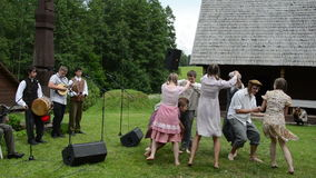 Musician dancer folk stock footage