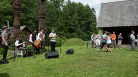 Musician dancer folklore stock video footage