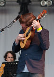 A musician with David Gray live at the Westport Festival Royalty Free Stock Photos
