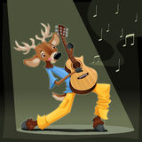 Musician Deer. Royalty Free Stock Photography