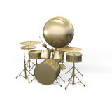 Musician - drummer does music Stock Images