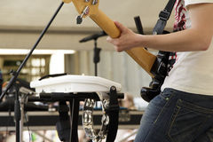 The musician with an electric guitar Stock Photo