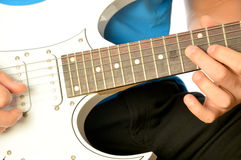 A musician on electric guitar Royalty Free Stock Image
