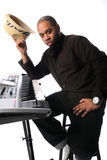 Musician  With Electronic Piano Royalty Free Stock Photo