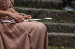 Musician of flute Stock Photography