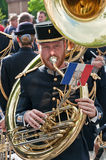 Musician from French army signal corps band Stock Photography