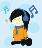 Musician Girl Vector Stock Photography