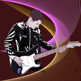 Musician-gitarist Stock Photos