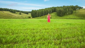 Musician on Green Meadow Royalty Free Stock Photos