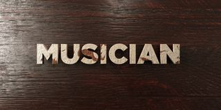 Musician - grungy wooden headline on Maple  - 3D rendered royalty free stock image Stock Image