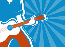 Musician and guitar background.Vector Stock Photo