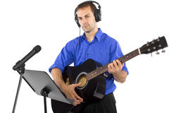 Musician with Guitar Royalty Free Stock Image