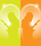 Musician with guitar Stock Image
