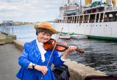 Musician in Halifax Stock Photos