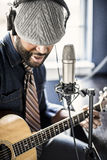 Musician Home Recording Royalty Free Stock Photo