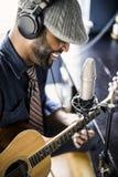 Musician Home Recording Stock Photos