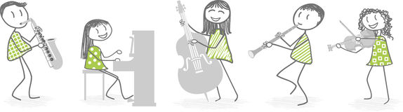 Musician illustration Royalty Free Stock Photography