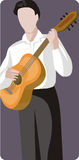 Musician illustration series Stock Image