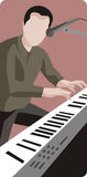 Musician illustration series Stock Image