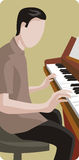 Musician illustration series. Vector illustration of a piano player. EPS file available Royalty Free Stock Photo