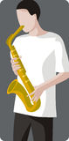 Musician illustration series Royalty Free Stock Photo
